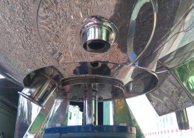Reator basculante de 500 litros inox entrada de pt100